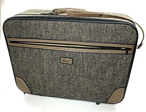 Vintage Verdi Firenze Brown Tweed Luggage Set 2 Pieces