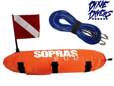 TORPEDO FLOAT AND LINE COMBO Nylon Float with 50 Feet 1400 lb Blue Float Line