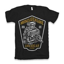 Mens Engine Muscle Car Shirt T American V8 Ford Racing Drag 58 Genuine Classic