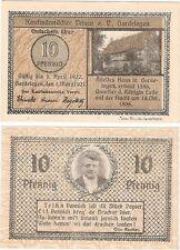 ALLEMAGNE 10 pfennig 1921 NOTGELD Gardelegen UNC Universel Billet