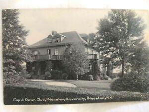 Early 1900s Postcard: Princeton University Cap & Gown Club