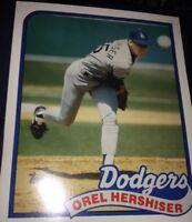 1989 Topps MLB Legends Orel Hershiser Pocket Folder LA Dodgers #550