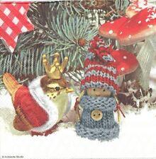 4 Serviettes papier Noël Roitelet Decoupage Paper Napkins King Wren
