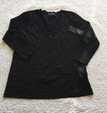 Jones New york womens NWT black emebellished long sleeve sweater 1X MSRP 99.00