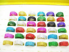 Wholesale Jewelry Lots 30pcs Multi-layer mesh Stainless steel Rings FREE J08