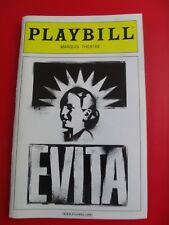 Evita Marquis Theatre Playbill - January 13th, 2013 - Ricky Martin