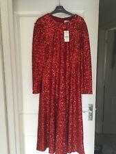 Lk Bennett Red Sequin Sparkly Lazia Dress Size 12 Fabulous