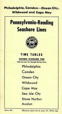 Pennsylvania-Reading-Seashore Lines, Phila-Cape May time table April 26, 1953