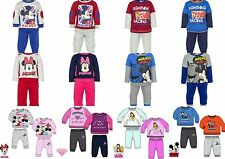 Disney Baby Boys Girls Cars Minnie Outfit Tracksuit Trousers Jumper Set Sale