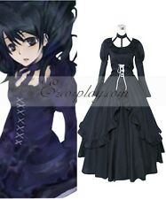 D.Gray-man Lenalee Lee Princess Black Dress Cosplay Costume E001