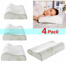 Hotel Comfort Bamboo Memory Foam Pillows - Hypoallergenic - Pack of 4