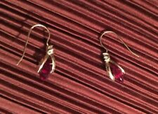 Marchesa Ruby Color, Gold Tone And Cubic Zirconia Earrings