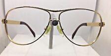PRADA Gold & Brown Sunglasses Eyeglasses Frames. SPR 561, 5AK-651, 60-10-125.