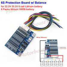 6S 22.2V Li-ion 18650 Lithium Battery Packs BMS Protection PCB Board w/ Balance
