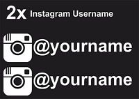 2 x Instagram Username Graphic Vinyl Decal Sticker EURO JDB DUB VW Funny Jap