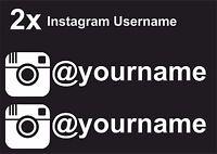 2 x Instagram Username Graphic Vinyl Decal Sticker EURO JDB DUB VW Funny Jap