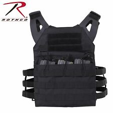 Lightweight Plate Carrier Tactical Vest - Rothco Black or Brown Mag Pouch Vests