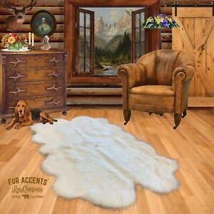 Sheepskin Nursery Rug - Quatro - Premium Plush Faux Fur - Soft Designer Shag