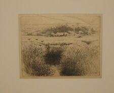 Original SEARS GALLAGHER 'The Marsh' MONHEGAN New England SIGNED Etching -Listed