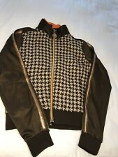 Pepe Jeans London Womens Brown Houndstooth Jacket Small, with flaws