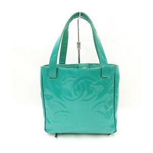 Chanel Hand Bag Triple Coco Greens Enamel 1525957