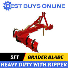 5 FT Grader Blade with Rippers 1.5 m suit Tractor 55HP+ 3 point linkage