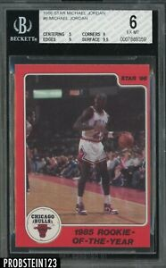 1986 Star Basketball #6 Michael Jordan Bulls RC Rookie HOF BGS 6 w/ 9.5