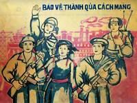 POLITICAL PROPAGANDA VIETNAM PROTECT REVOLUTION LARGE POSTER ART PRINT BB2631A
