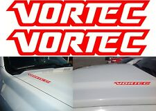 "(2) Gloss Red VORTEC 10"" x 2"" Vinyl Decals Stickers New Free Shipping USA"