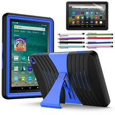 Amazon Kindle Fire HD 8 Case, 10th Generation Shockproof Rubber Stand Hard Case