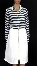 FOREVER NEW classy zip skirt, white weave fabric, sz. 12
