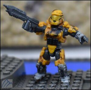 HALO MEGA CONSTRUX BLOKS CUSTOM YELLOW GOLD UNSC SPARTAN MARK V(B) SOLDIER ARMOR