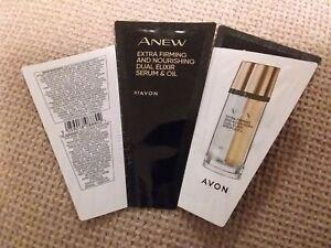 AVON  ANEW Dual Elixir Extra Firming & Nourishing  Serum & Oil SAMPLES x 2