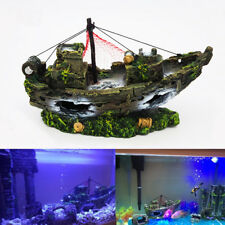 Large Wreck Boat Sunk Ship Destroyer Aquarium Ornament  Fish Tank Cave Decor