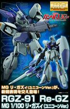 NEW Premium Bandai MG 1/100 Mobile Suit Gundam  RGZ-91 Re-GZ UNICORN Ver. Figure