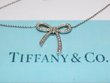 Tiffany & Co. Platinum and Diamond Bow Necklace