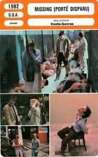 FICHE CINEMA : MISSING PORTE DISPARU - Lemmon,Spacek,Costa-Gavras 1982