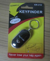 100% Brand Whistle Lost Car Key Finder Keyrings Locater with LED Light、HCUKYF