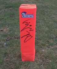 New England Patriots ADRIAN WILSON Signed Autographed Football Pylon COA!!