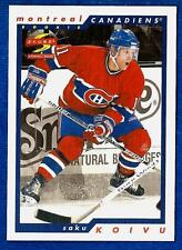 1996-97 Score Sample SAKU KOIVU (ex-mt) Montreal Canadiens