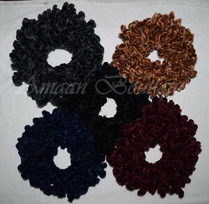 Volumising Scrunchie Velvet Big Hair Tie Bun Clip Hijab Scarf Volumizer Khaleeji