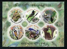 Bangladesh 802a, MNH, 2012 Bird Baya Weaver,Red-vented Bulbul, Parakeet  x19806