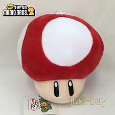 "New Super Mario Bros Plush Super Mushroom Red Soft Toy Stuffed Animal Teddy 5.5"""