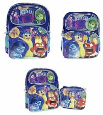 "INSIDE OUT BACKPACK &/OR LUNCH BOX SET! BLUE SCHOOL BAG TOTE 14"" OR 16"" NWT"