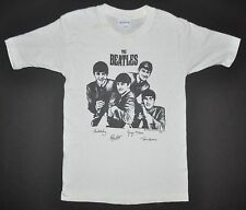 Beatles VNTG White Short Sleeve T-Shirt Nems Enterprises 1963 Youth Small RARE
