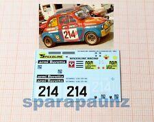 """Decals Fiat Abarth 595 1/43 - #214 – """"Tibeli"""" – Verzegnis 1973"""