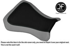 BLACK AND GREY VINYL CUSTOM FITS RIEJU RS3 125 FLAT FRONT SEAT COVER ONLY