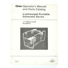 Vintage Onan Lightweight Portable Generator Operators Manual & Parts Catalog