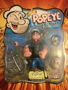 """Mezco CLASSIC POPEYE THE SAILORMAN 2001 MOC new 5"""" inch mint on card complete"""