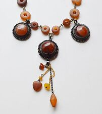 Vintage Erickson Beamon Carnelian Necklace and Earring set